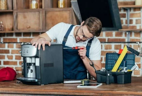 сборка кофемашины после ремонта